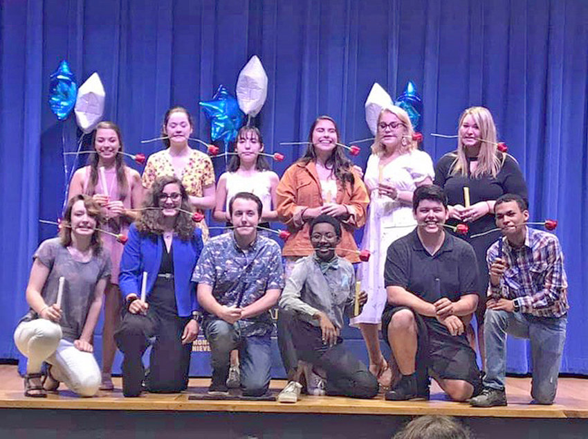 New members of the CHS Troupe 505 are, from left front, Riley Taylor, Callie Porter, Joesph Newsome, Aerynne Lindsey, Gavin Islas, Michael Ariaanse. And from left behind, Kira Stander, Caelie Porter, Leiland Nunez-Flores, Alexa Kruszwski, Bailey Dority and  Lexus Cass.