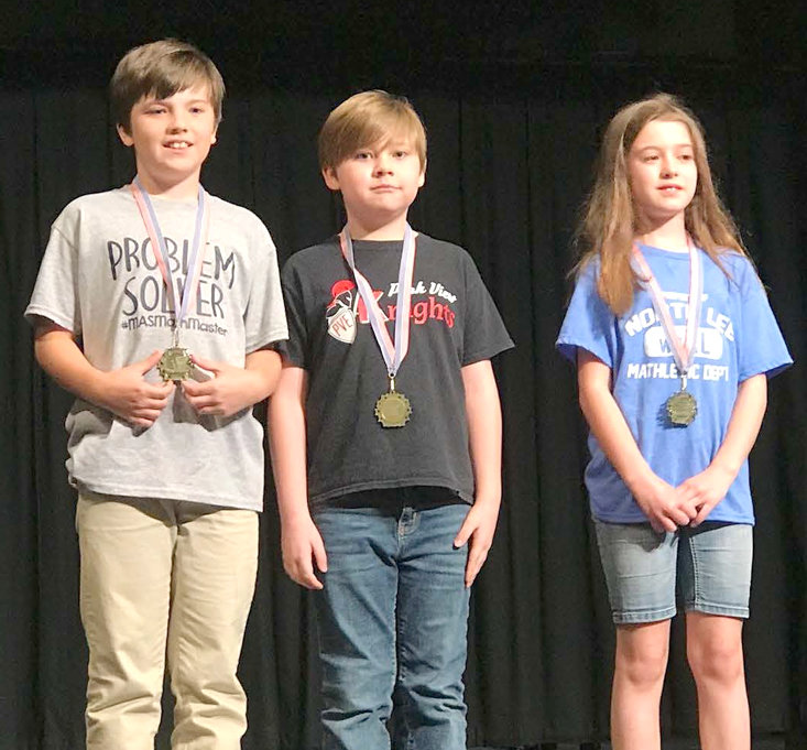 THE WINNERS IN THE fourth-grade, written-test portion of the Math Meet were Andrew Carroll from Michigan Avenue Elementary School, who placed first; Isaac Bryant from Park View Elementary School, second; and Cara Minutolo from North Lee Elementary School,  third.
