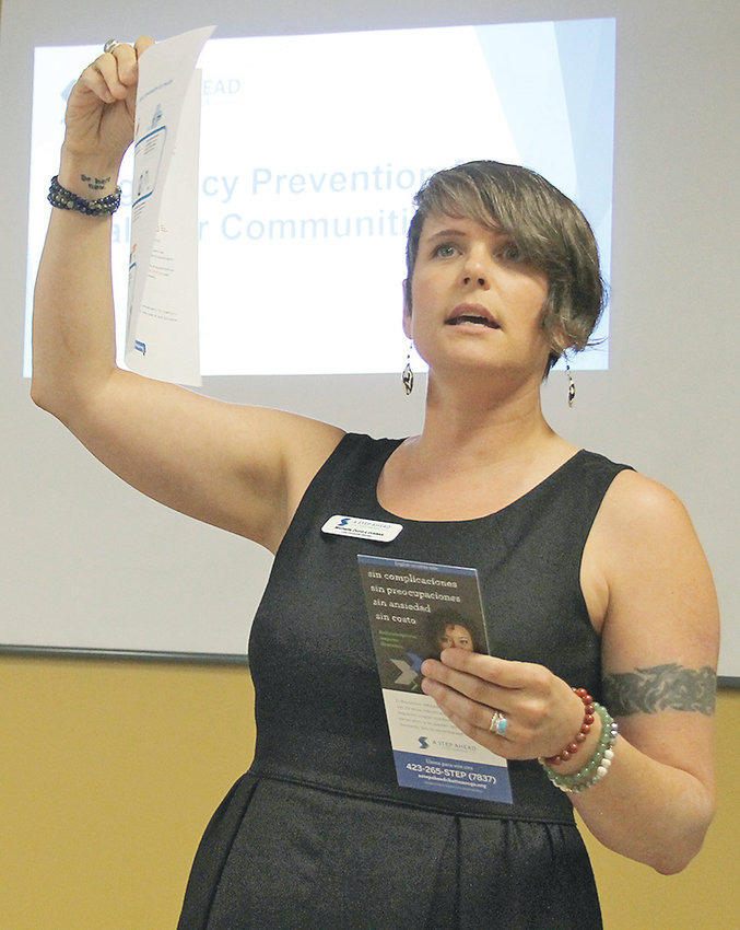 MICHELLE DUNN with A Step Ahead Chattanooga spoke to the Bradley County Health Council about the variety of birth control options provided by ASAC. While some organizations provide all forms, ASAC provides the most effective methods, such as implants and IUDs, at no cost.
