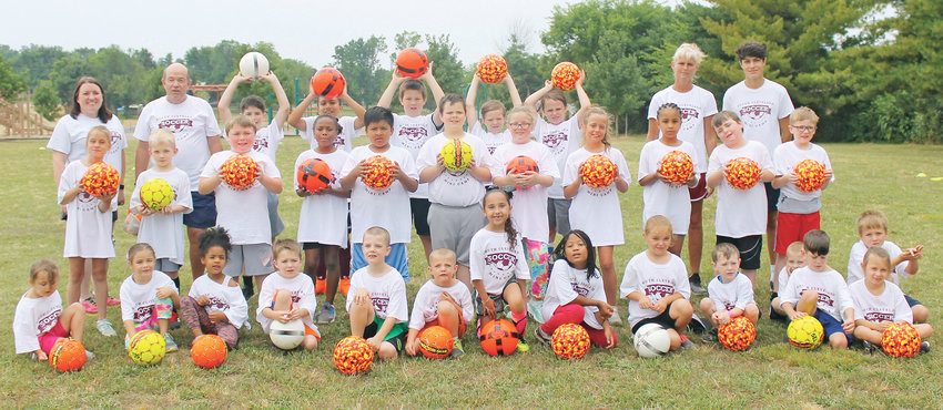 """THE SOUTH CLEVELAND Mini Soccer Camp saw an increase to 32 participants this week at the Blythe-Bower Elementary School. The free sessions introduced local youngsters to the """"fun"""" of the game and each participant was given a ball of their own to help them develop their game."""