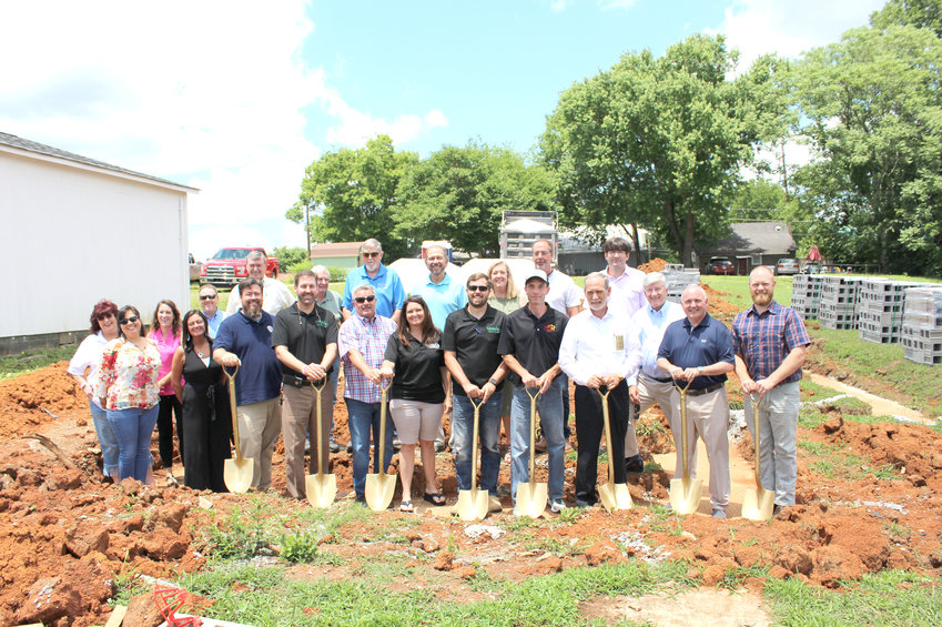 SEVERAL VOLUNTEERS and government officials attended a groundbreaking  ceremony held for the construction of a new home in the Blythe-Oldfield neighborhood in Cleveland. Construction of the new residence is a the result of a partnership between community development organization City Fields and the Ocoee Region Builders Association. Pictured in the photo are City Fields' Jake Stum, Joe Collins, Dennis Epperson, Bradley County Commissioner Charlotte Peak, ORBA President Blake Allison, Chad Dean, Bradley County Mayor D. Gary Davis, state Sen. Todd Gardenhire, Chris Martin, Cleveland Mayor Kevin Brooks and City Fields Executive Director Dustin Tommey.