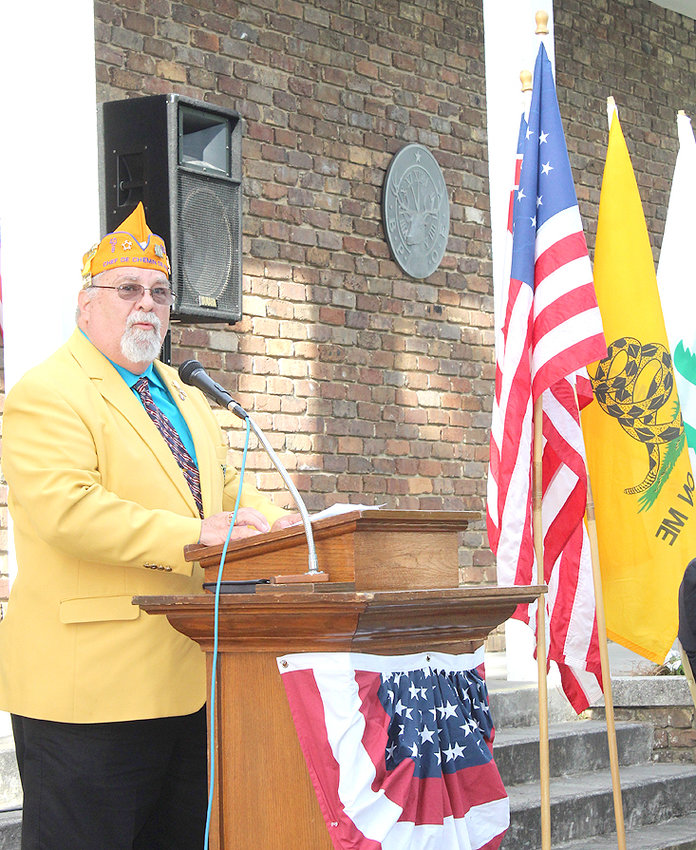 RICK WILLIAMS, national commander of the 40 and 8, was the keynote speaker at Friday evening's Flag Day ceremony at the Cleveland Elks Lodge. Williams discussed the proposition that the U.S. needs a national Flag Protection Act for the U.S. Flag.