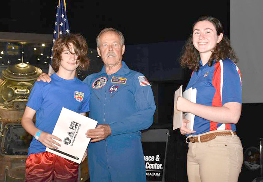Reid Hobbs is shown at his graduation from U.S. Space and Rocket Center's Space Camp Robotics.