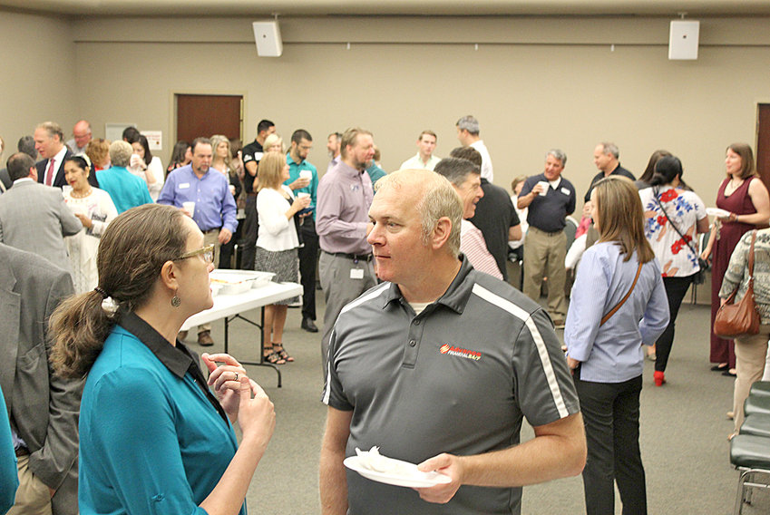 Start your morning off with great conversations and expand your business connections on Tuesday, July 9, at the Chamber's Membership Coffee event, sponsored by and held at Garden Plaza – Cleveland, located at 3500 Keith Street N.W. Festivities kick-off at 8:30 a.m. The Cleveland/Bradley Chamber of Commerce June 2019 Membership Coffee event attendees exchanged business contacts and conversations at the Chamber.