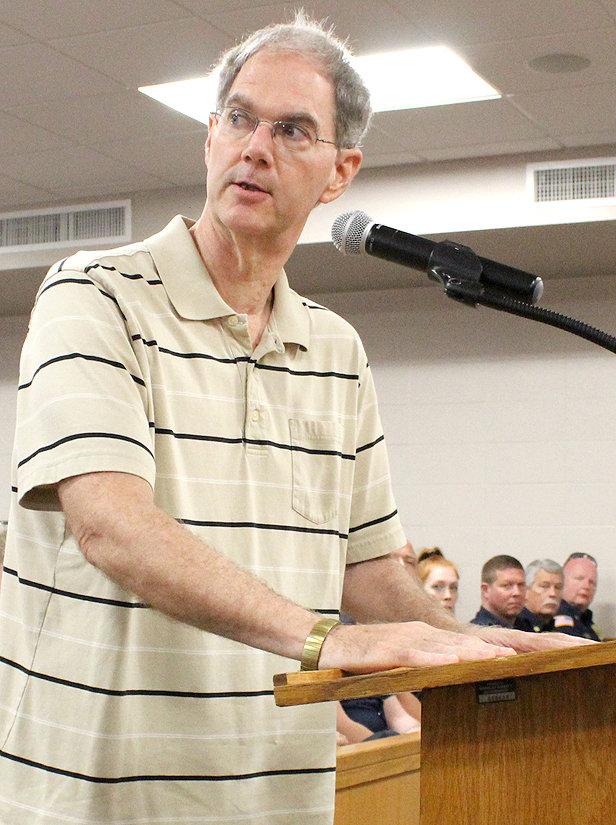 DANIEL HOFFMAN was among the local residents who spoke during Monday's public hearing for the proposed property tax rate increase. Hoffman told the Bradley County Commission he believes there are people who don't want any kind of tax increase.