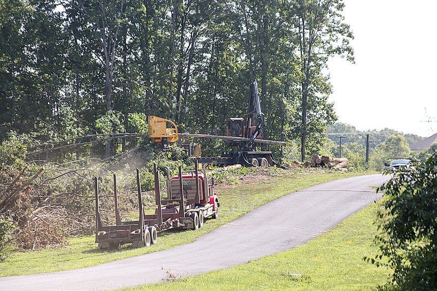 TREES are being cleared on property where First Baptist Church of Cleveland's Family Life Center in located in preparation of its sale to Tennessee Christian Preparatory School. TCPS, which has been housed at the former site of Tomlinson College for the past 20 years, plans to build a new school at the site, which is located on Stuart Road.