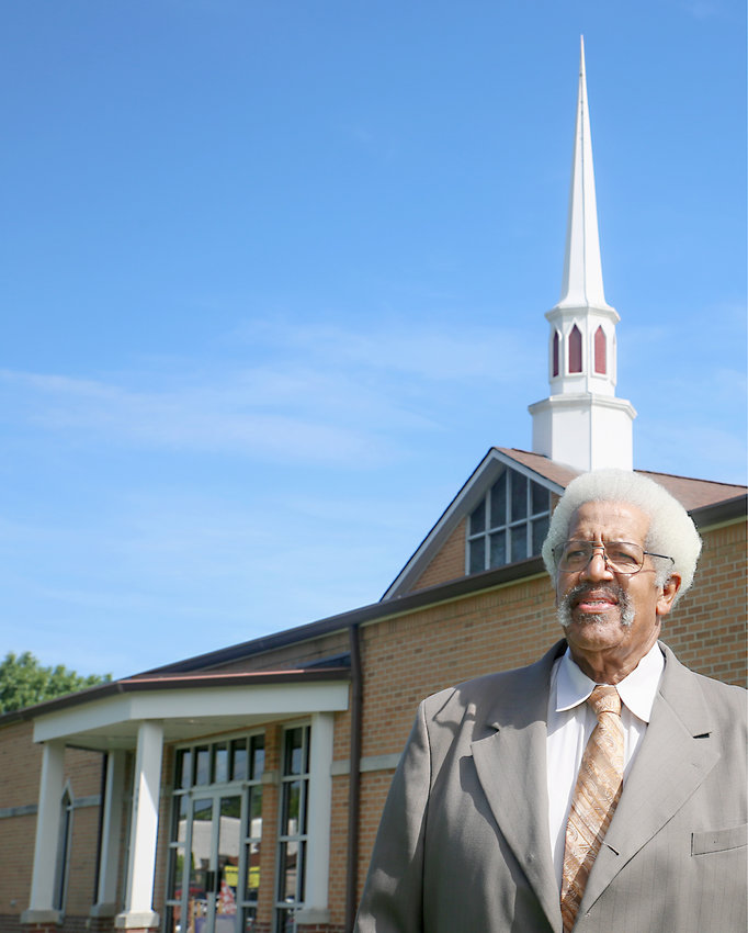 REV. EDWARD ROBINSON is celebrating his 40th year as pastor of the historic Pleasant Grove Missionary Baptist Church in South Cleveland. The Inman Street church was founded in 1869, and is one of the oldest in Bradley County.