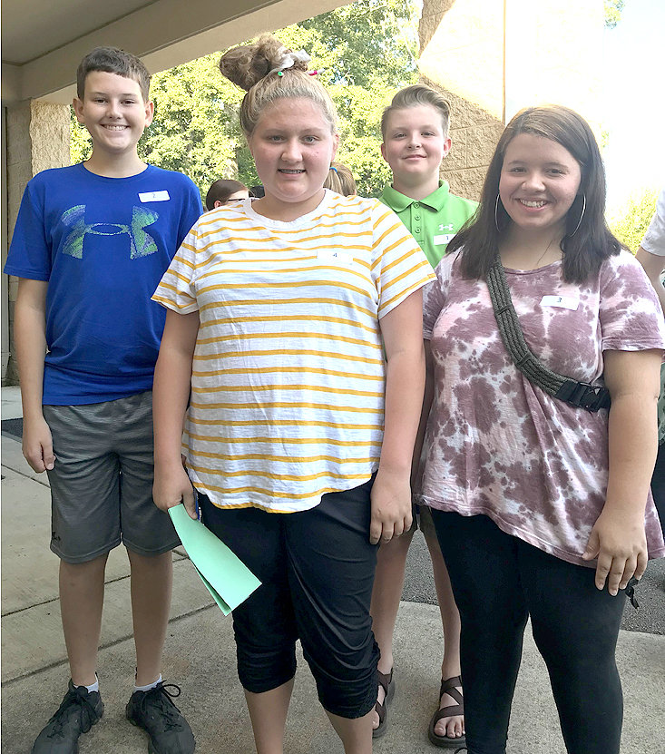 Junior High Lifeskills Team members are  Kaden Trew, Noelle Ricketts, Ian King and Elizabeth Morris.