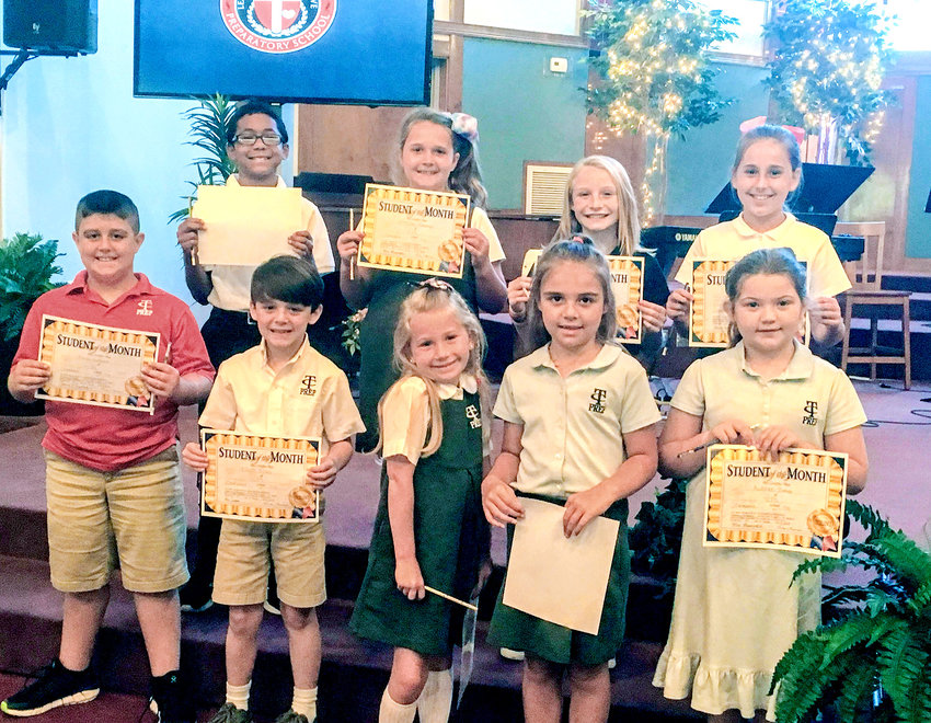 "TENNESSEE CHRISTIAN PREPARATORY SCHOOL congratulates its ""Respect"" character trait winners for the month of September. From left, front, are  Beau Ledford, Elliot Tilley, Lillie Ingram, Grace Laug and Aubree Bishop; back, are Daniel Lee, McKinley Massengill, Frannie McPherson and Lynleigh Massengill."
