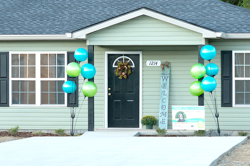 THIS NEW HOME in Habitat for Humanity of Cleveland's Victory Cove subdivision was dedicated during a ceremony Thursday.