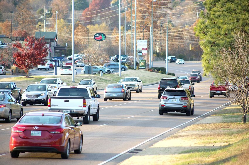HEAVY TRAFFIC clogs the Paul Huff Parkway area regularly during the end of the work day, but residents should expect even more congestion this year as more businesses have opened in 2019 along the popular holiday shopping corridor. This week's crowds will worsen with expected swarms of Thanksgiving travelers and Black Friday shoppers.