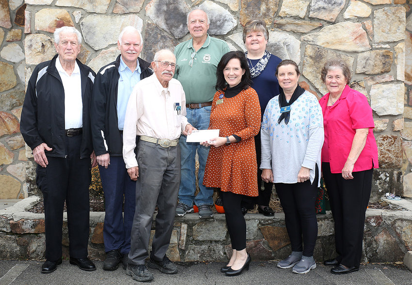 CHEROKEE TOO RURITAN CLUB members presented Isaiah 117 House's Renee Curry, with a check as to help make a lasting impact on the future of foster children. In 1991, Cherokee Too Ruritan Club was chartered to assist other Ruritan clubs in the district who needed volunteers. The Cherokee Too  helped start the Foothills Country Fair, which existed for 11 years. Ruritans do what they can to provide their community's needs through fellowship, goodwill and community service. After 28 years, the club is closing. Renee Curry, expansion coordinator for Isaiah 117 House, was one of the last meeting speakers. Isaiah 117 House is being established in Bradley County to reduce the trauma to children as they go into foster care.   Participating in the presentation were W.W. Johnson, John Patterson, Mel Griffith, Jim Holcomb, Renee Curry, Linda Melton, Susan Holcomb and Joyce Johnson.