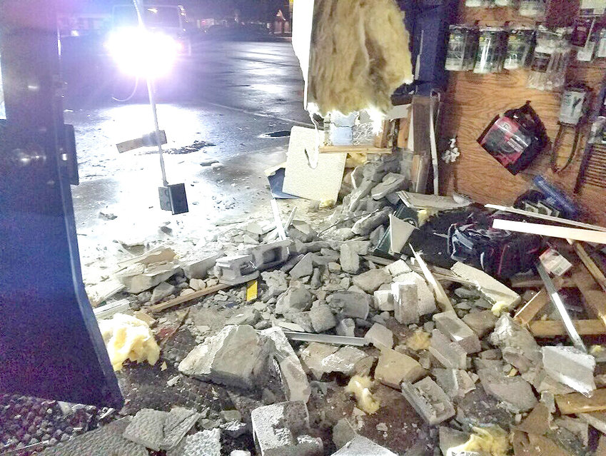 A STOLEN PICKUP TRUCK was crashed into the front of the American Defense Company gun store located on Georgetown Road, allowing an undetermined number of culprits to steal an estimated 40 firearms. Some were recovered when the truck was found on Westside Drive shortly after the incident.