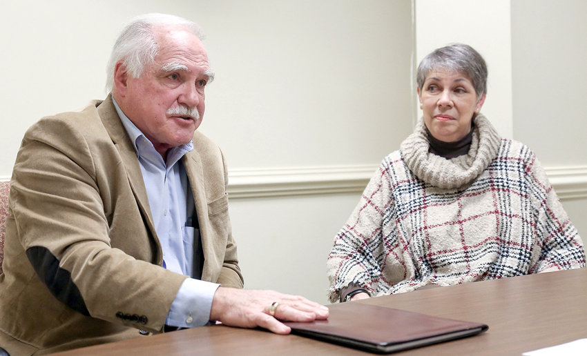 JOE GILBERT, left, director of security operations at Westwood Baptist Church, reports the recent Magen 2021: A Gathering of Guardians church security seminar was so successful that planning is already underway for the 2021 session. The gathering, which was held in February, was attended by 725 participants representing 135 churches. At right is Gilbert's wife, Barbara.