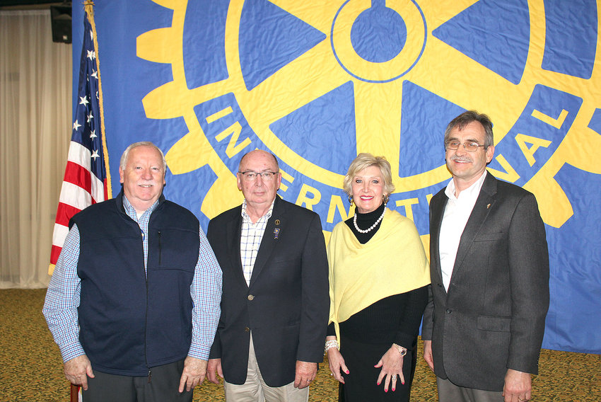 ROTARY CLUB of Cleveland President Dwight Richardson, Rotary Club of Pigeon Forge's Jerry Wear, Bradley Sunrise Rotary's Pat Fuller and Rotary Club of Cleveland's Victor Boltniew all say the Rotary Club's exchange student program is highly rewarding, with the students becoming like family.