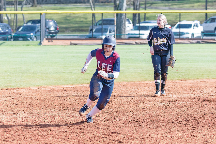 LADY FLAMES' Taylor De Adder went 3 for 3 with a home run in Sunday's victory over West Georgia.