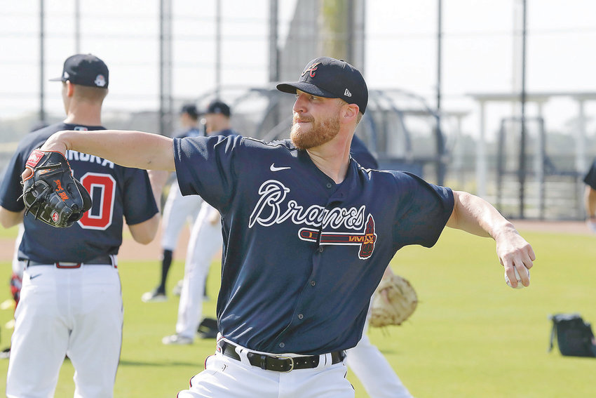 NEWLY ACQUIRED Atlanta Braves relief pitcher Will Smith throws during spring training in North Port, Fla.