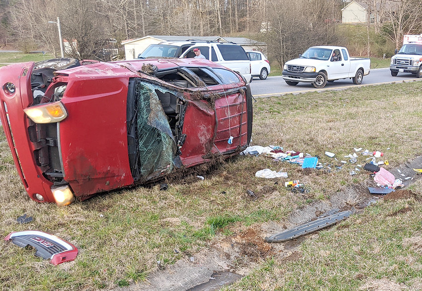 A mom and baby were uninjured after they were involved in an accident Tuesday afternoon on Highway 64/Old Hollow Road intersection.