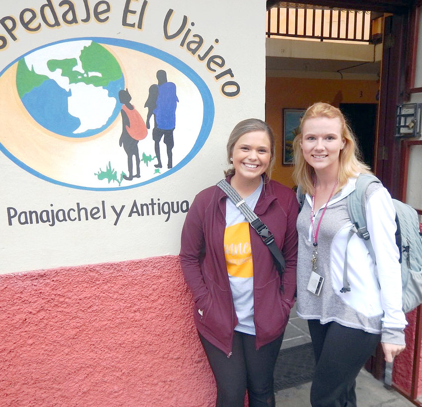 DESIREE LAPEER, left, and Lincoln Beavers, right, are shown on a spring break anthropology trip to the western highlands of Guatemala.