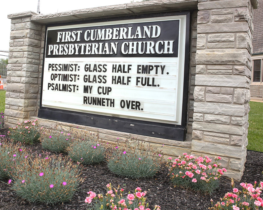 AS TENNESSEE continues its reopening in the shadows of the COVID-19 pandemic, the Cleveland and Bradley County community is following suit. It's an encouraging sign for many, and this First Cumberland Presbyterian Church downtown reminder seems to add to the feeling of recovery.