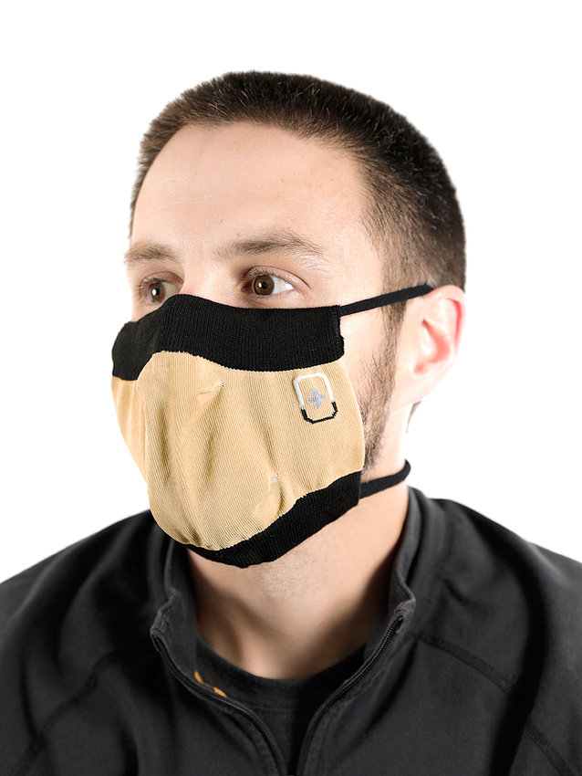 THIS IS ONE OF THE MASKS manufactured by the Renfro Corporation which is under contract with the state of Tennessee to help combat the COVID-19 pandemic. Renfro is now defending the mask's safety in the wake of a critical news report by a Nashville TV news station. The report has been picked up by other news outlets, including the Cleveland Daily Banner. The masks are manufactured at a Renfro plant located in Cleveland.