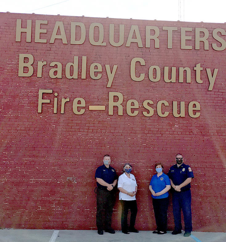 MEMBERS OF THE American Legion Auxiliary Unit 81 on Friday, 9/11/2020, delivered baked items to local first responders.