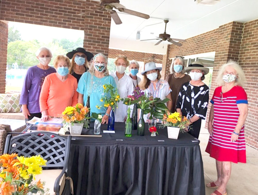 THE OCOEE GARDEN Club met at the Cleveland Country Club for the Fall Organizational Luncheon.   From left are Jeanette Schlaeger, Rachel Savage, Mary McNulty, Crystal Rymer, Pat Pierce, Martha McDowell, Mary Ruth Younger, Ann McCoin, Mary Margaret Stamper and Polly Whitsitt.  Not pictured was new member Pamela Stanley.  In addition to discussing several horticultural specimens, the group made plans for the next three months.  Hostess for this occasion was Polly Whitsitt, and the group enjoyed lunch on the porch.