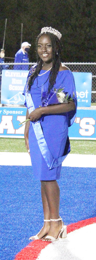 Sheeko Ndegwa was crowned queen during Cleveland High School's recent Homecoming event.