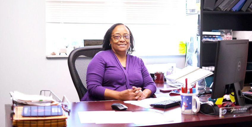 TENA WALKER is the go-to person for anything pertaining to athletics at Lee University.