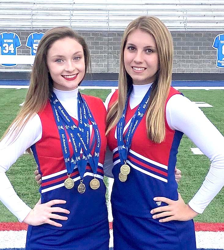 JAYLEE INGLE and Leah Hargis recently performed at the Varsity Spirit Spectacular in Orlando, Fla.