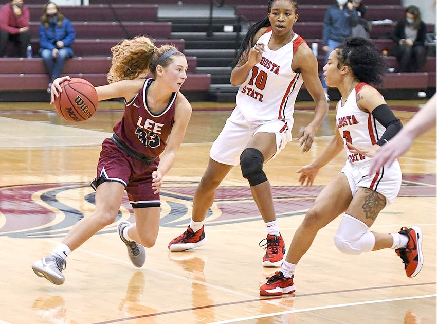 LEE UNIVERSITY junior Haley Schubert led the Lady Flames with 19 points in Friday's road win at West Florida.