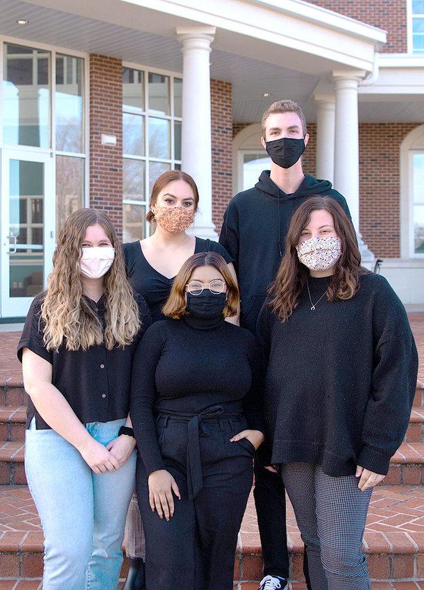 The Bateman Team members are, from left, Carolyn Russel, Amy Harrison, Amulya Chalapathy, Chandler Redding and Savannah Jones.