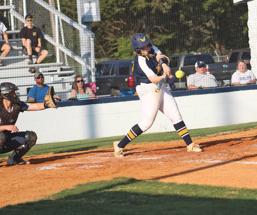 WALKER VALLEY'S Grace Martin connect for a solo homer in the bottom of the fifth inning against Soddy-Daisy Monday, at Larry Haney Field.