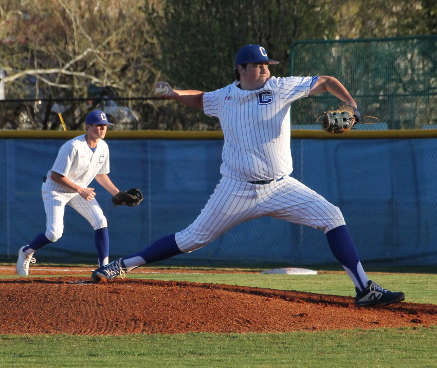 CLEVELAND HIGH senior Haydon Sells fired a two-hitter and struck out 12 in a 2-1 victory Monday evening in Ooltewah.