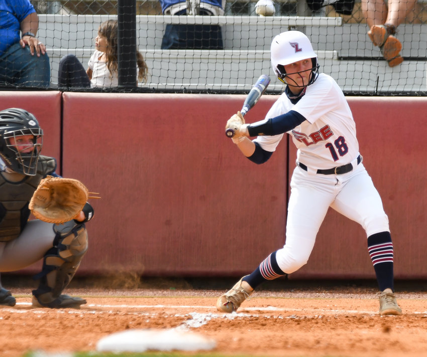 WaLKER VALLEY product Laney Harris had three hits in Game 1 of Lee University's GSC twinbill at  West Florida, in Pensacola, Fla..