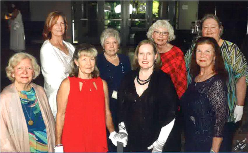 ATTENDING THE TSDAR event were local membrs Harriett Caldwell, Betsy Bassette, Joanne Swafford, Mary Charles Blair, Leigh Ann Boyd, Virginia Orr, Veronica Fox, and Linda Foster.
