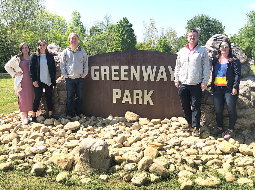THE EMERGING LEADERS COUNCIL and the Community Foundation of Cleveland and Bradley County are returning Movies in the Park to Greenway Park on May 21. From left are Codie Taylor, Ellen Dobbs, Ben Chandler, Jack Sheehan and Bailey Feehrer.