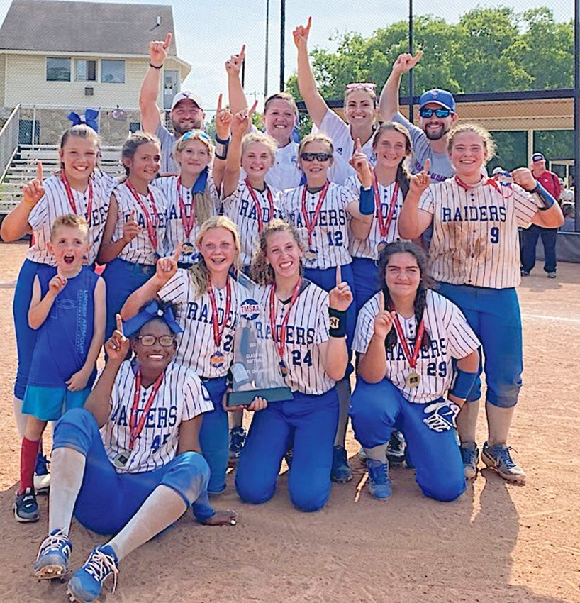 THE CMS LADY RAIDERS won the TMSAA state softball championship May 22, in Hendersonville.