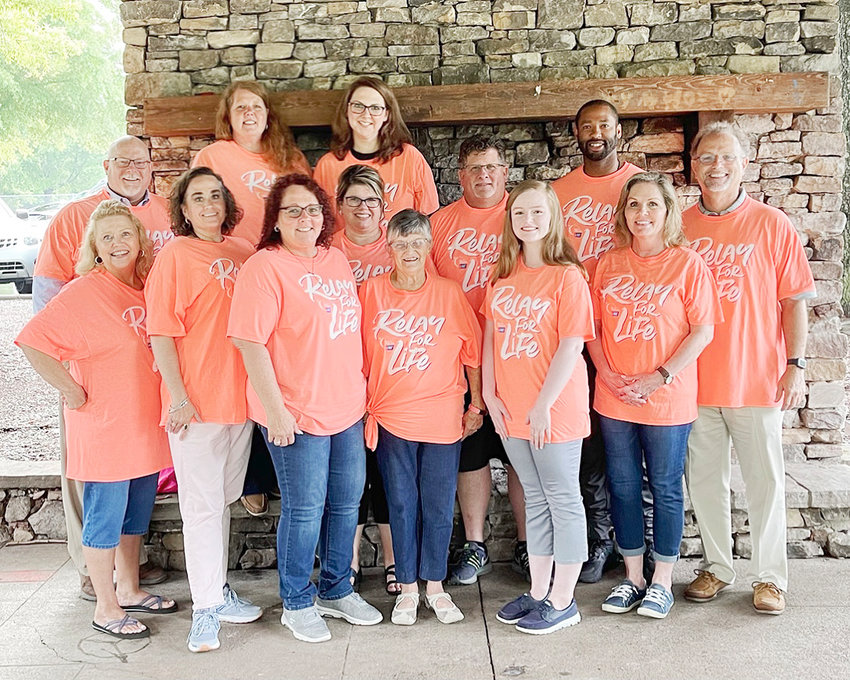 THIS YEAR'S RELAY FOR LIFE is scheduled for Aug. 28 at the Greenway Park. Organizers for the event include, from left: (front) Beth Rains, Laura Burnett, Lisa Sexton, Carolyn Botts, Amanda Ledford and Nancy Cassada; (back) Barry Mathis, Angela Mathis, Kelley Farrow, Traci VanNostran, Greg Farrow, Michael Patterson II, and Dewayne Belew. Also on the organizing team are Ron Derrick and Paula Garner.