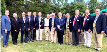 Col. Benjamin Cleveland Chapter  and John Sevier chapter members of the Sons of the American Revolution were in attendance for the re-interment ceremony of World War II Pvt. Warren Glinn Harding DeVault in Dayton.