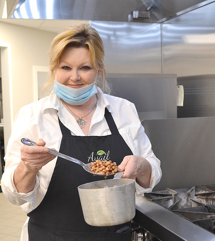 TERRI MYERS, dining services director at Avail Senior Living, will be one of the chefs competing in the Sept. 11 International Cowpea Festival and Cook-off. While keeping her dish a secret, she said that it will probably include black eyed peas.