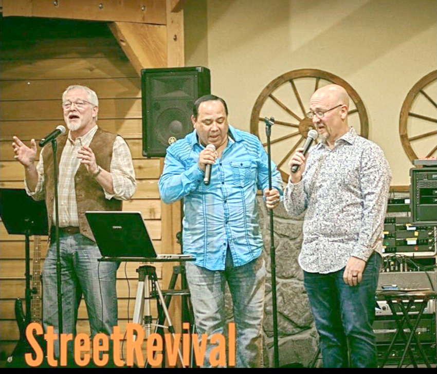 SOUTHERN GOSPEL Quartet Street Revival will be singing at the Cleveland Cowboy Church Sunday, Sept. 12, at 11 a.m. Members Blair, Gary, Rocky and Tom have all traveled with groups of various genres including Harvest, The Scenicland Quartet, and The Inspirations. They have a diverse sound with a love rooted in vintage quartets of yesteryear.
