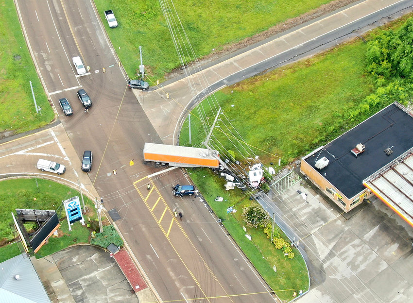 AUTOPSY RESULTS from the driver of this tractor-trailer rig failed to identify any type of medical emergency that might have contributed to the I-75 Exit 27 crash on July 25. Toxicology results also came back negative, according to the Cleveland Police Department. Justin Louissant, 59, died in the accident.