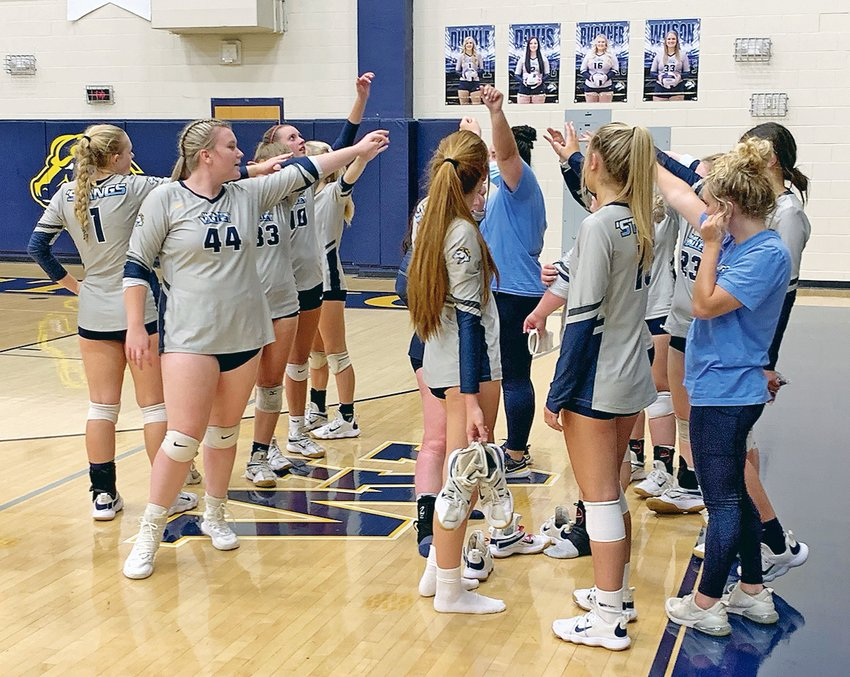 """WALKER VALLEY'S volleyball ladies were able to notch a District 5-AAA sweep of McMinn County Tuesday evening at """"The Stable."""""""