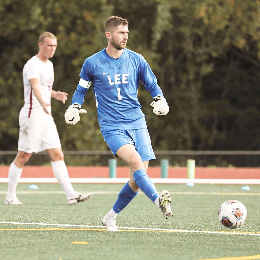 LEE UNIVERSITY goalkeeper Sam Keener posted four saves in Friday's 2-1 overtime upset of No. 8 Union University, in GSC action at Lee.