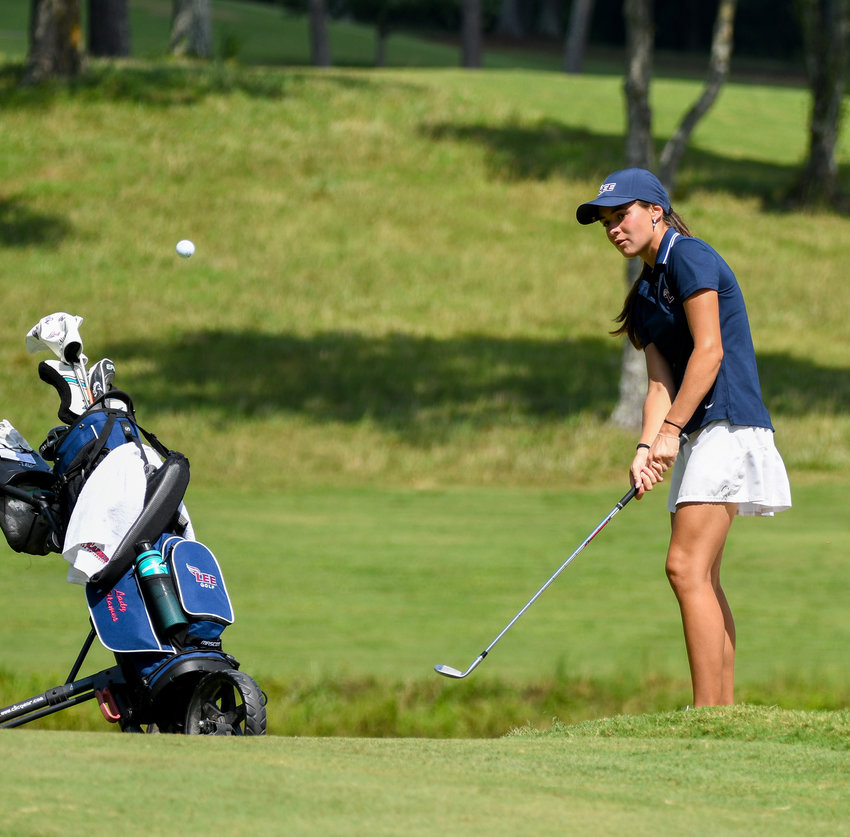 LADY FLAMES' GOLFER Alexandra Naumovski led the Lady Flames with a 147 and placed eighth  at the Savannah Lakes Fall Invitational Tuesday, Tuesday, in McCormick, S.C.