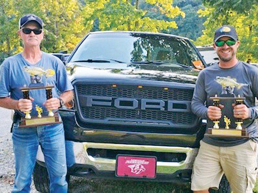 THE WINNERS of the 2021 CATCH Ministry/Cleveland Ford Team of the Year are Scott Skofield (left) and Phillip Skofield. The father-and-son team, from Madisonville, out-fished 80-plus teams to claim the championship.