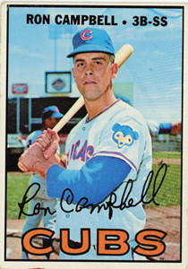 FORMER CHICAGO CUB Ron Campbell is pictured on a Topps baseball card.