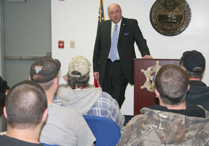 Sheriff Eric Watson Addressed The First Class Of Inmates To Receive Special Faith Based