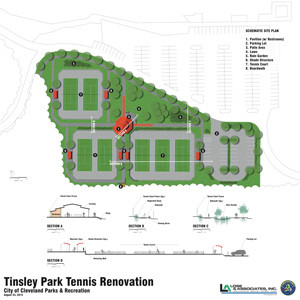 Concept For Tinsley Park Tennis Court Redesign Is Completed The